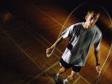 Young Man Jumping a Rope Photographic Print