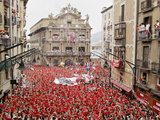 "The ""Chupinazo"" the Official Opening of the 2006 San Fermin Fiestas Photographic Print"