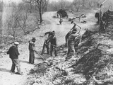 Works Progress Administration (Wpa) Workers Build a New Farm-To-Market Road Photographic Print