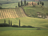 Tuscan Villa, Val d'Orcia, Italy Photographic Print by Walter Bibikow