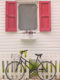 Beach House and Bicycle, Loyalist Cays, Bahamas, Caribbean Photographic Print by Walter Bibikow