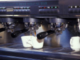 Cappucino Machine and Cups, Rome, Italy Photographic Print by John & Lisa Merrill