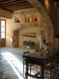 Medieval Kitchen, Chateau de Pierreclos, Burgundy, France Photographic Print by Lisa S. Engelbrecht
