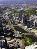 Yarra River, Melbourne, Victoria, Australia Photographic Print by David Wall