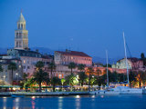Night View, Split, Croatia Photographic Print by Russell Young
