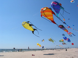 Colorful Kites Dot the Sky Photographic Print