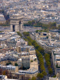 View from Eiffel Tower, Arc de Triomphe, Paris, France Photographic Print by Lisa S. Engelbrecht