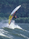 Windsurfing in Hood River, Oregon, USA Photographic Print by Lee Kopfler