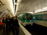 Commuters Inside Metro Station, Paris, France Photographic Print by Lisa S. Engelbrecht