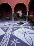 Courtyard of Parador, Luxury Hotel, Arcos de la Frontera, Spain Photographic Print by John &amp; Lisa Merrill