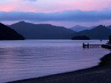 Dusk on Picton Harbour, Marlborough Sounds, South Island, New Zealand Photographic Print by David Wall
