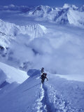 Mountain Climbing on Denali, Alaska, USA Photographic Print by Lee Kopfler