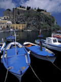 Fishing Boats Moored in the Port of Lipari, Sicily, Italy Photographic Print by Michele Molinari