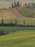 Tuscan Villa and Farmhouse, San Quirico D&#39;Orcia, Val d&#39;Orcia, Italy Photographic Print by Walter Bibikow