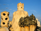Antonio Gaudi's La Pedrera, Casa Mila, Barcelona, Spain Photographic Print by David Barnes