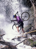 Mountain Biking, Vail, Colorado, USA Lámina fotográfica por Lee Kopfler
