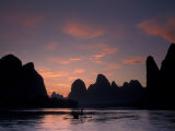 Landscape of Li River Under Sunrise, China Photographic Print by Keren Su