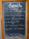 Sidewalk Cafe Menu, Paris, France Lámina fotográfica por Lisa S. Engelbrecht