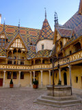 Well in Hotel-Dieu Courtyard, Beaune, Burgundy, France Photographic Print by Lisa S. Engelbrecht