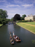 Punting on the Backs, Cambridge, England Photographic Print by Nik Wheeler