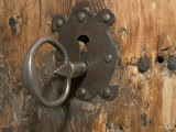Key Lock, Vogo Stave Church, Vagamo, Norway Photographic Print by Russell Young