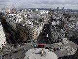 View from Nelson&#39;s Column Showing London Eye, Whitehall, Big Ben Photographic Print