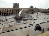 A View of the Louvre Pyramid, and the Southern Wing of the Louvre Building Photographic Print