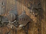 Door Lock, Vogo Stave Church, Vagamo, Norway Photographic Print by Russell Young