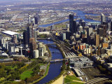 Melbourne CBD and Yarra River, Victoria, Australia Photographic Print by David Wall