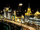 Night View of Shanghai, China Photographic Print by Keren Su