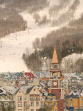 Mont Tremblant Ski Village in The Laurentians, Quebec, Canada Photographic Print by Walter Bibikow