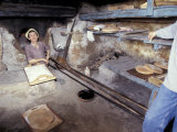 Baking Bread in a Wood-Fired Oven, Morocco Photographic Print by John & Lisa Merrill