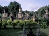 Buddhist Sculptures at Zieng Khuan Buddha Park, Vientiane, Laos, Photographic Print