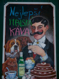 Restaurant Sign, Prague, Czech Republic Photographic Print by Russell Young
