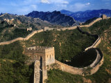 Landscape of Great Wall, Jinshanling, China Fotoprint van Keren Su