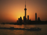 Oriental Pearl TV Tower and High Rises, Shanghai, China Photographic Print by Keren Su