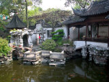 Landscape in Traditional Chinese Garden, Shanghai, China Photographic Print by Keren Su