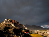 Potala at Sunset, Lhasa, Tibet Photographic Print by Vassi Koutsaftis