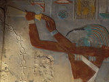 God Thoth Purifying Hetsheput at the Karnak Temple, Egypt Photographic Print by Claudia Adams