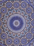 Zellij (Geometric Mosaic Tilework) Adorn Walls, Morocco Fotografisk tryk af John & Lisa Merrill