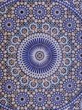 Zellij (Geometric Mosaic Tilework) Adorn Walls, Morocco Fotografisk tryk af John & Lisa Merrill