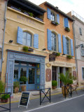 Hotel and Restaurant, Arles, Provence, France Photographic Print by Lisa S. Engelbrecht