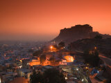Meherangarh Fort and Town, Rajasthan, India Photographic Print by Walter Bibikow
