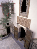 Intricate Tile Work on Floor and Walls, Morocco Photographic Print by John & Lisa Merrill