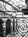 Détail d'une porte en fer forgé, Salzbourg, Autriche Reproduction photographique par Walter Bibikow