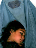 Afghan Mother Nagis Embraces Her Daughter Photographic Print