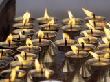Bhuddist Temple with Candles, Kathmandu, Nepal Photographic Print by Gavriel Jecan