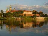 Wawel Hill with Royal Castle and Cathedral, Vistula River, Krakow, Poland Photographic Print by David Barnes