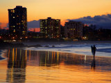 Dusk, Coolangatta, Gold Coast, Queensland, Australia Photographic Print by David Wall