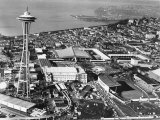 This is a Photo of Seattle During the World's Fair Photographic Print
